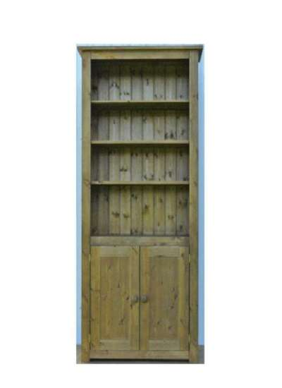 Hampshire Pine Lower Cupboard 2 Door Bookcase 150x90cm