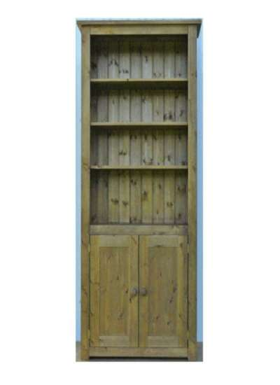 Hampshire Pine Lower Cupboard 2 Door Bookcase 200x90cm